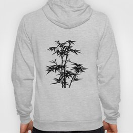 Bamboo Silhouette Black And White Hoody