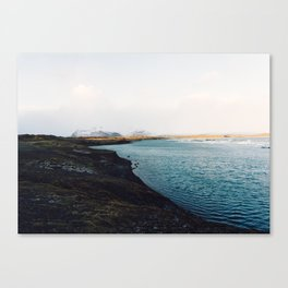 From the other side, Jökulsárlón, Iceland Art Print Canvas Print
