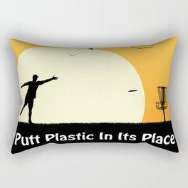 Putt Plastic In Its Place Rectangular Pillow