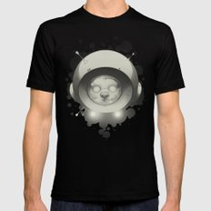Space Kitty Mens Fitted Tee X-LARGE Black