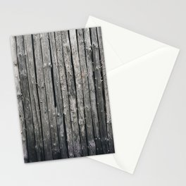 dark vertical wood Stationery Cards