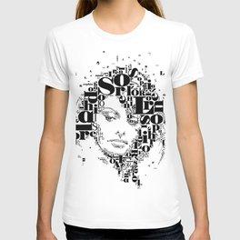 Sophia Loren Typographic Image T-shirt