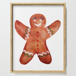 Gingerbread man Cookie Serving Tray