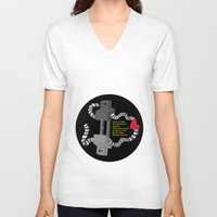 robot V-neck T-shirts featuring Robot by D64d