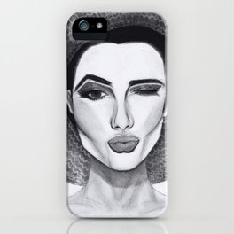 Kissy Winky Face iPhone Case