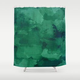emerald watercolor Shower Curtain