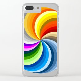Ubuntu 36 Swirl Clear iPhone Case