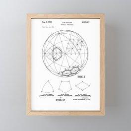 Buckminster Fuller 1961 Geodesic Structures Patent Framed Mini Art Print