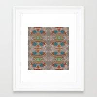 megan lara Framed Art Prints featuring lara by kallia panopoulou
