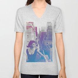 Natalie Wood Cityscape Unisex V-Neck