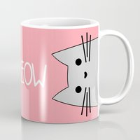meow Mugs featuring Meow by Hugh & West