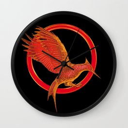 Chatching Fire Wall Clock