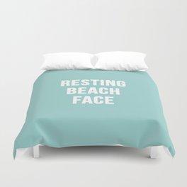 Resting Beach Face Duvet Cover