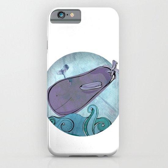 Eggplant Whale iPhone & iPod Case