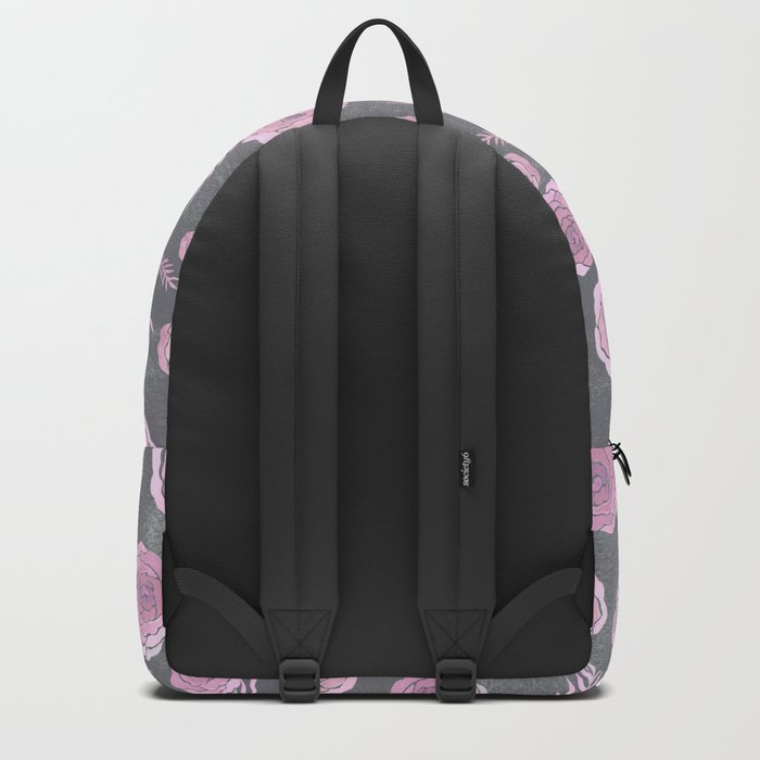 Peony Pattern Grey 2 Backpack