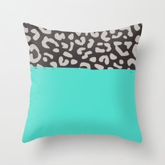 Colorblock Leopard Throw Pillow
