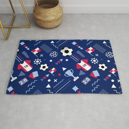 Love Football Background Rug