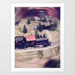 Сhildren's railway Art Print
