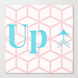 UP ↑ Canvas Print