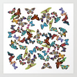 Butterfly Invasion Art Print