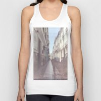 spain Tank Tops featuring Madrid, Spain by Jane Lacey Smith