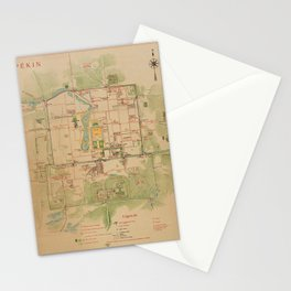 Map Of Peking 1900 Stationery Cards