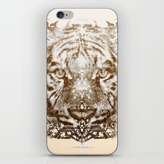 The White Tiger (Gold Version) iPhone & iPod Skin