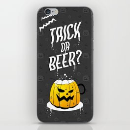 Trick or Beer? Halloween Candy Bag iPhone Skin