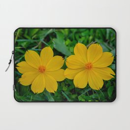 Two Yellow Flowers Laptop Sleeve