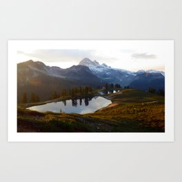 Elfin lake twilight II Art Print