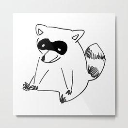 It's The Raccoon Metal Print