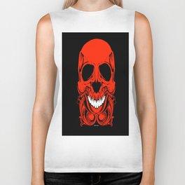Red Skull Biker Tank