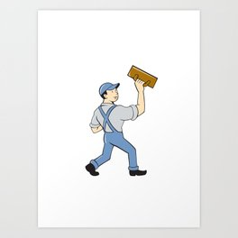 Plasterer Masonry Trowel Cartoon Art Print