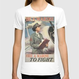 Vintage poster - Be a Marine T-shirt