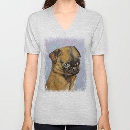 Pug Puppy Unisex V-Neck