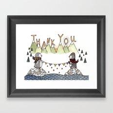 Penguin Thank You Framed Art Print
