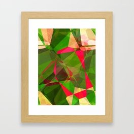 Pink Roses in Anzures 5  Abstract Polygons 2 Framed Art Print