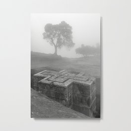 Bet Gyorgis Rock Church.  Lalibela, Ethiopia. Metal Print