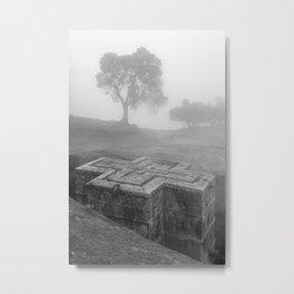 Bet Gyorgis Rock Church.  Lalibela, Ethiopia. Metal Print