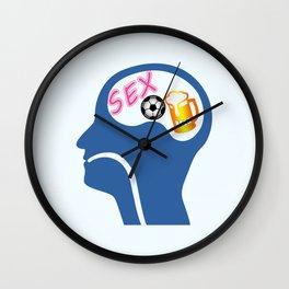 Male Psyche Wall Clock