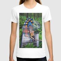 plaid T-shirts featuring Plaid Bird by John Turck