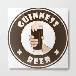Guinness beer starbucks parody Metal Print