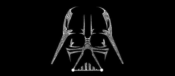 Vader Doodle Coffee Mug
