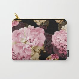 Rose pattern on dark background Carry-All Pouch