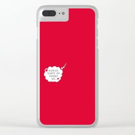 Bollywood Masala Clear iPhone Case