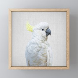 White Cockatoo - Colorful Framed Mini Art Print