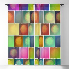 Multicolored suns Blackout Curtain