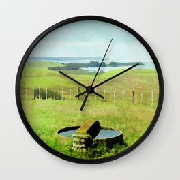 Bay of Island, New Zealand in Watercolor Wall Clock