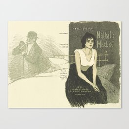 Cover for the book Nathalie Madore by Abel Hermant Theophile Alexandre Steinlen 1859 - 1923 Canvas Print