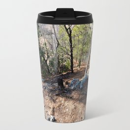 Climbing Up Sparrowhawk Mountain above the Illinois River,No. 5 of 8 Travel Mug